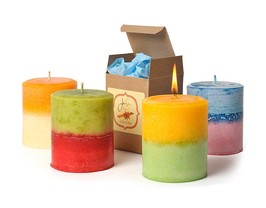 Choose your own 2-in-1 Scented Decorative Pillar Candle, 14 oz (397 grams) - JenSanHomeAndBody