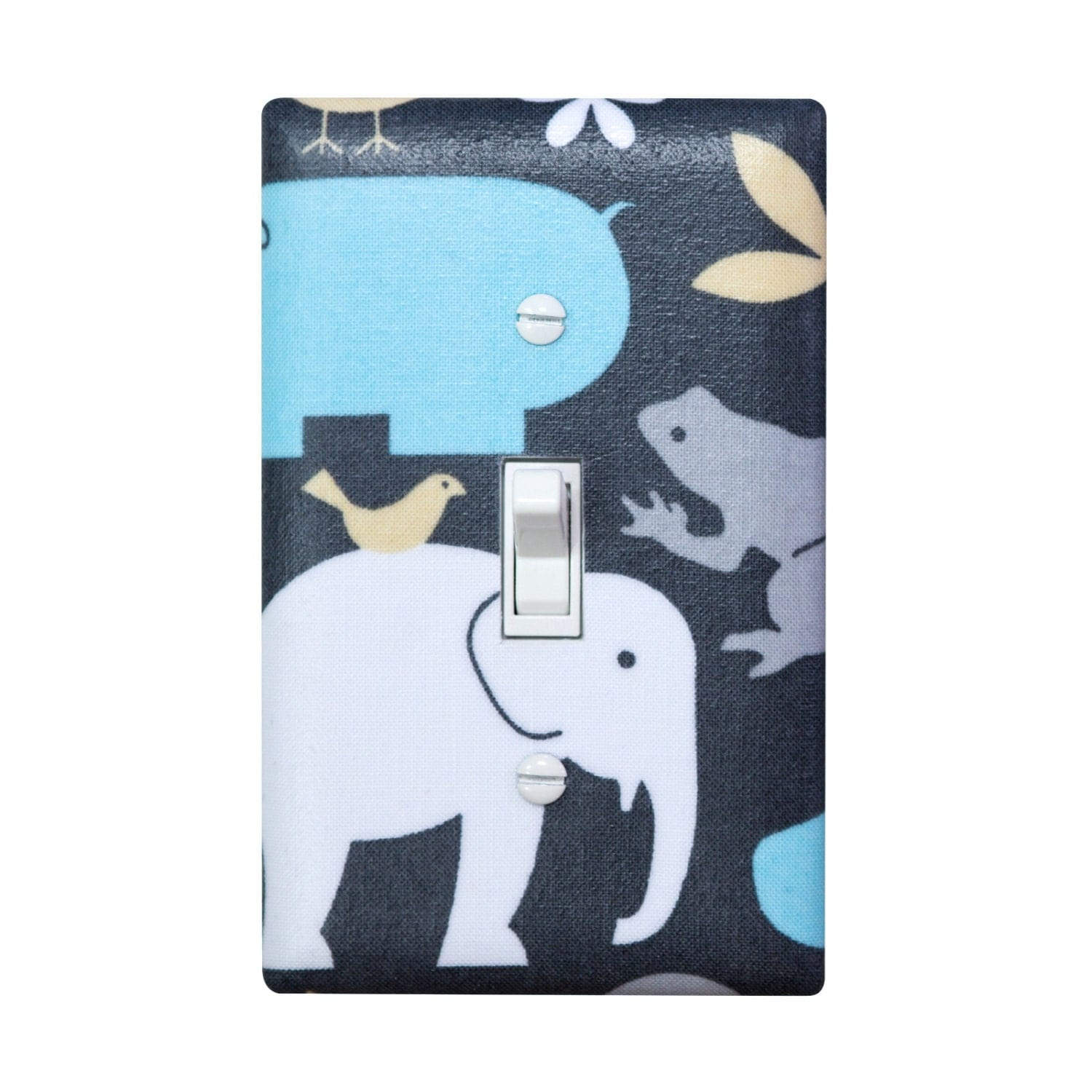 Elephant Light Switch Plate Cover Baby Boy Nursery By