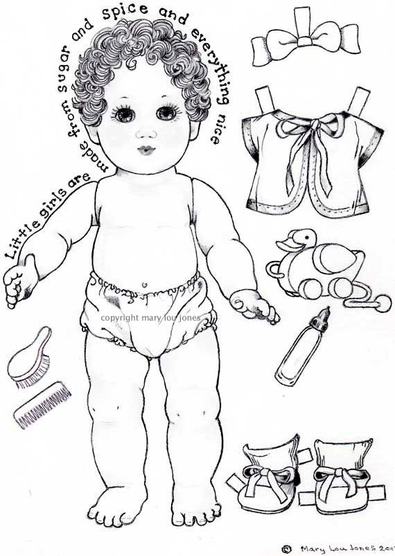 Baby doll coloring pages printable for Baby doll coloring pages to print