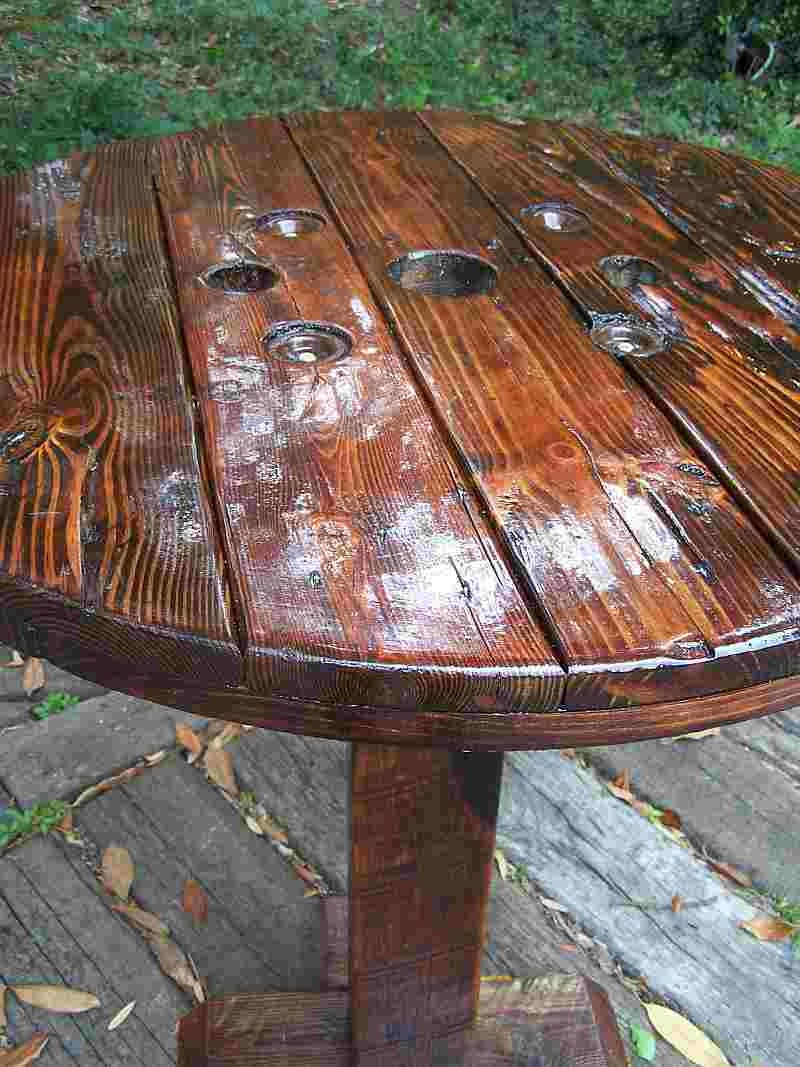 Pub Style Table From Recycled Reclaimed Repurposed By Drucycle