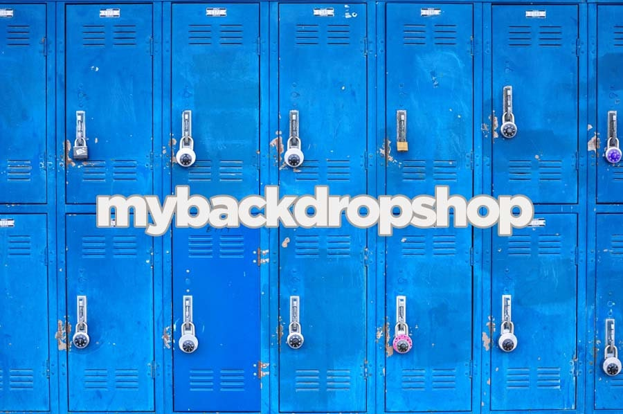 7ft x 5ft School Locker Photography Backdrop by MyBackdropShop