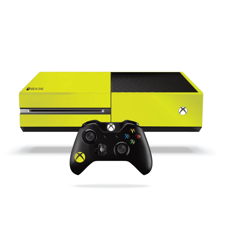 Xbox One Fluorescent Vinyl Wrap Bright Yellow