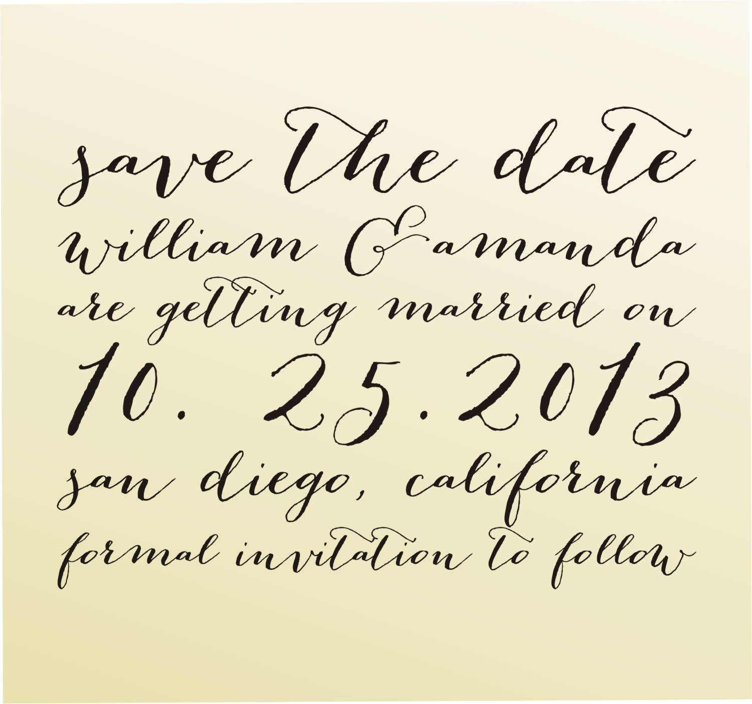 Save The Date Modern Design Calligraphy By Lovetocreatestamps