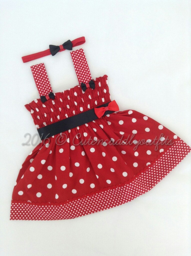 Baby Dresses Baby clothes baby Headband baby girl clothes baby  party dress Summer dress baby summer dresses Minnie Mouse dresses