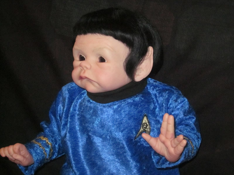 Baby Spock From Star Trek Reborn Baby Doll By Bluefairybabies