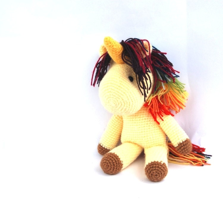 Crochet Unicorn Doll : ... amigurumi unicorn my little pony doll rainbow pony crochet unicorn