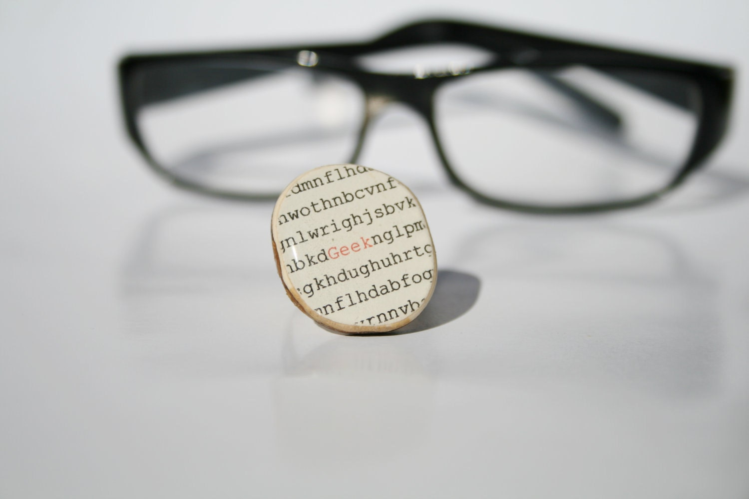 Cocktail Ring geek, wood jewelery , geek ring , Chunky ring, nature lover gift, nerd jewelery, geekery - starlightwoods