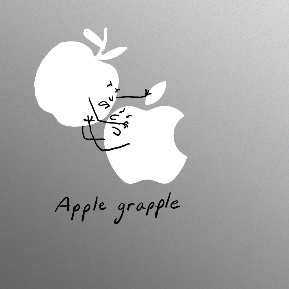 Apple Grapple Decal Laptop Sticker for Apple MacBook  Pro  Air