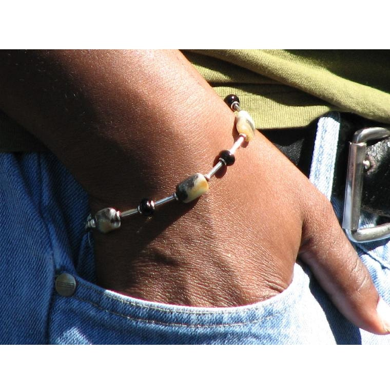 Tacoma Men's Bracelet with Amazonite and Sterling Silver
