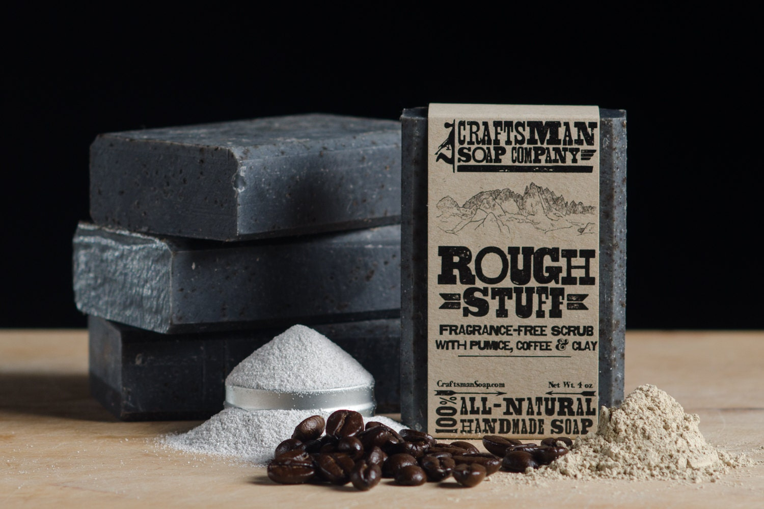 Rough Stuff Exfoliating Soap Scrub - CraftsmanSoapCo