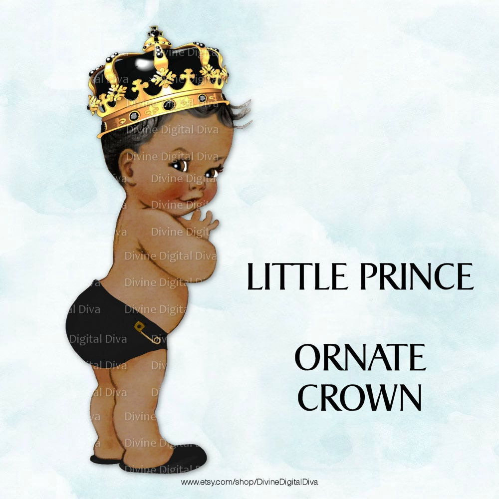 Little prince crown clipart