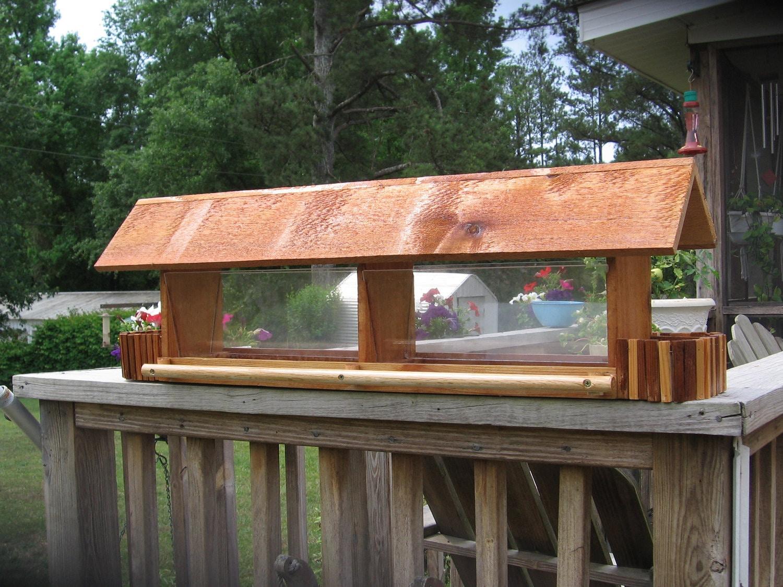 Cedar longhouse bird feeder 36 large capacity by for Longhouse birdhouse