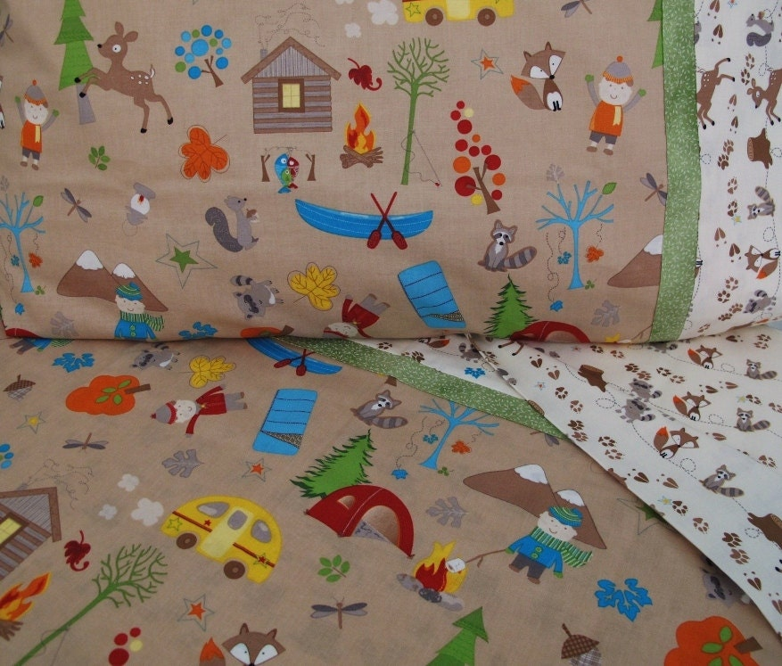 Forest Animals Nursery Toddler Bedding Camping Crib By