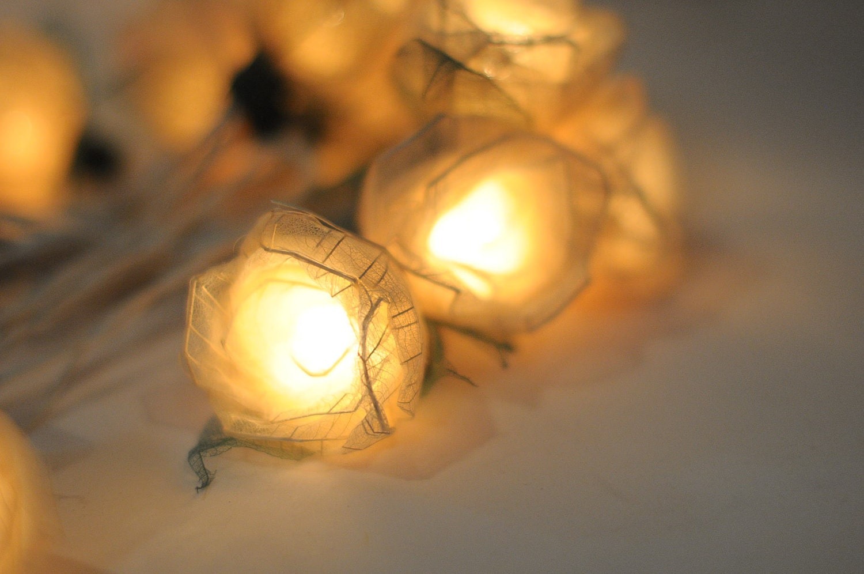 Using String Lights In Living Room : Romantic valentine Rose flower leaf string light patio rose living room strand eBay