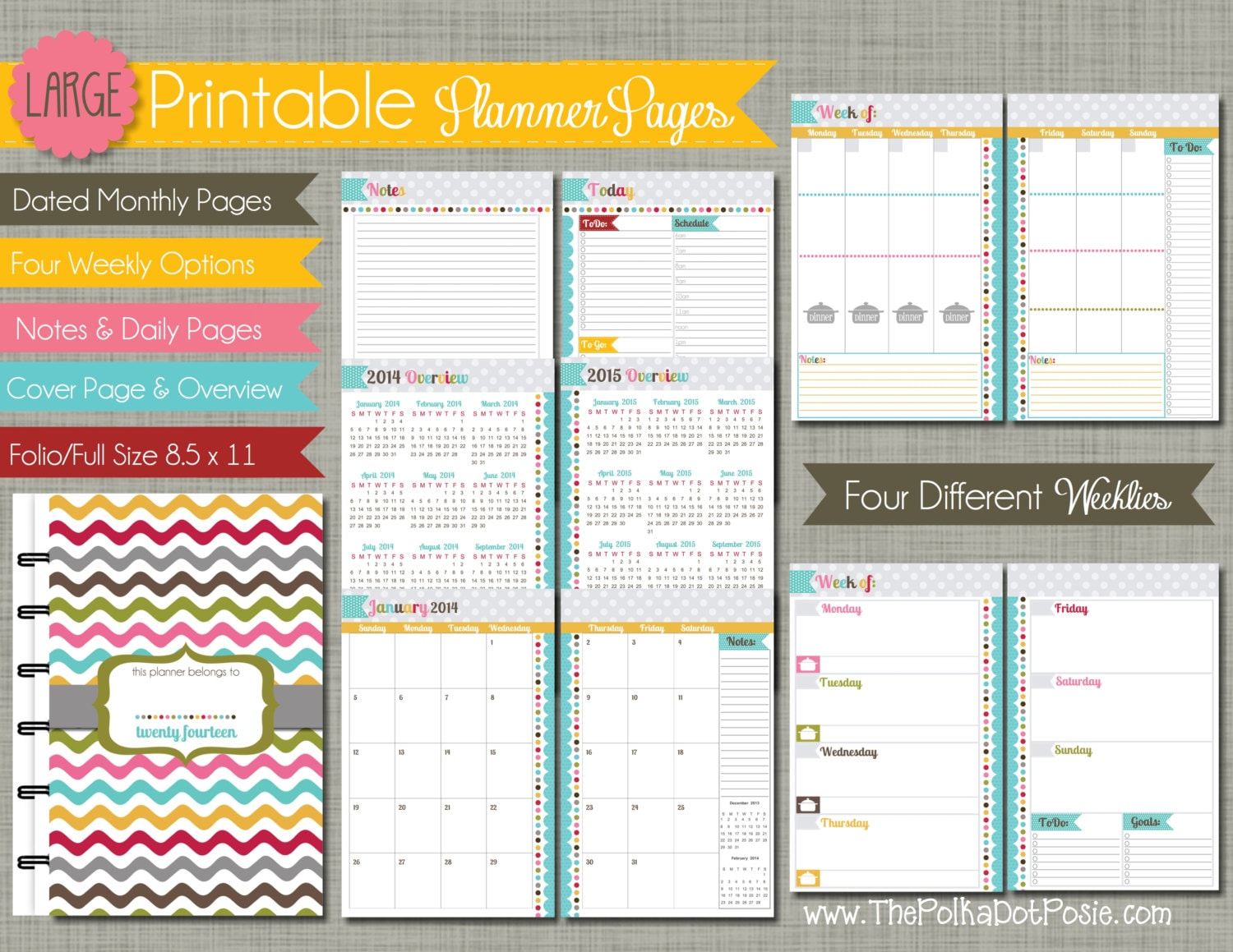 11 pdf printable planner pages calendar year sized 8 5 x 11 pdf ...