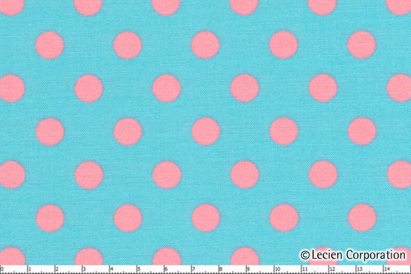 polka dot dots lecien fabric pink on light blue by allegrofabrics. Black Bedroom Furniture Sets. Home Design Ideas