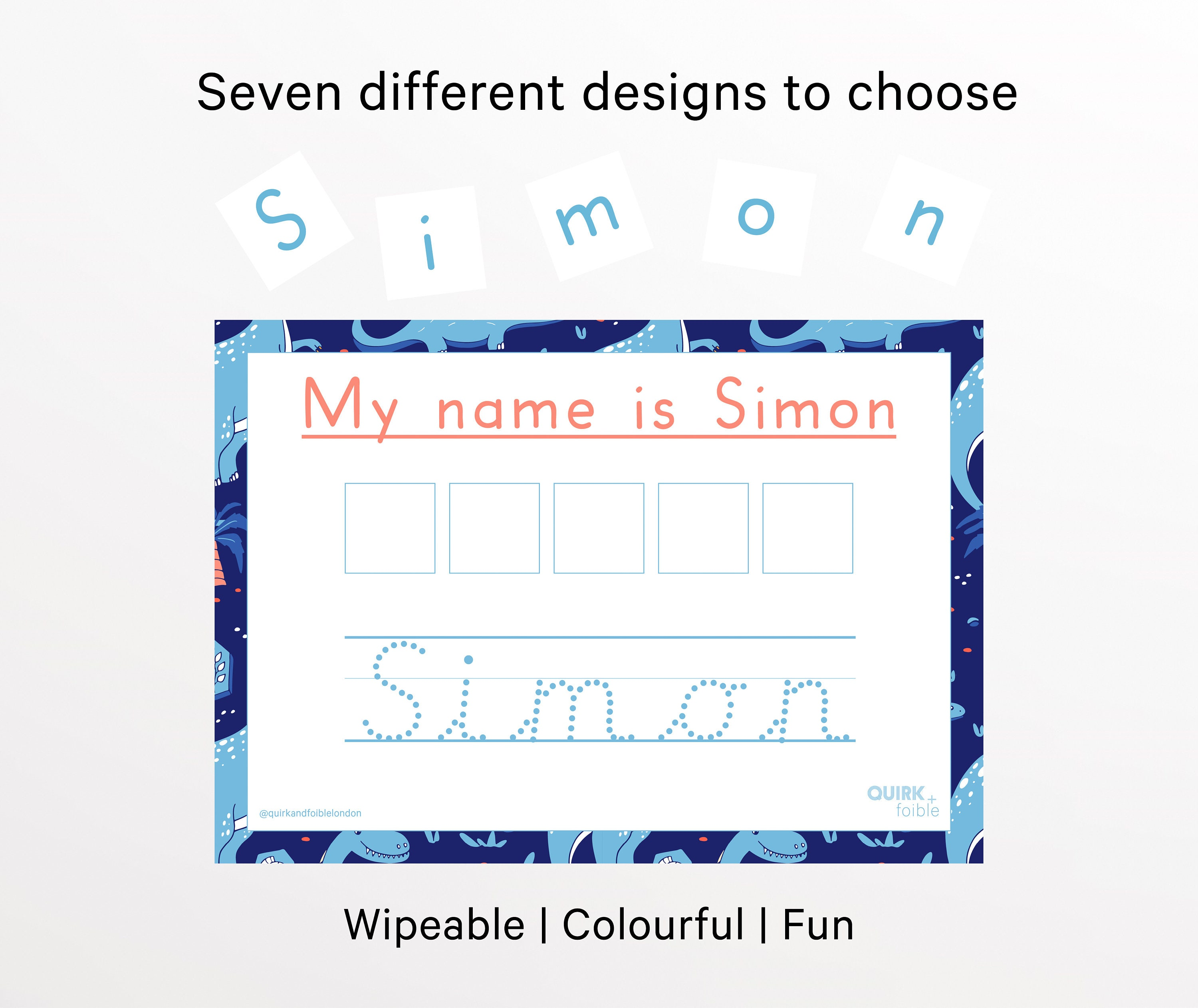Velcro Learn To Spell Your Name, Learn To Write Your Name Precursive, Personalised Learning Mat, Homeschool, efys, Preschool Learning,