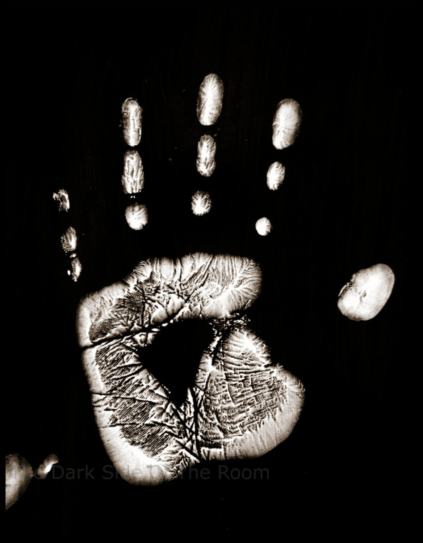 black amp white photography handprint digital by