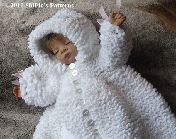 Baby Crochet Pattern Ruffled Sleeping Bag Crochet by shifio
