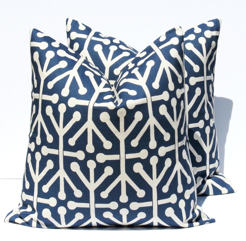 Decorative Throw Pillows Navy Blue Pillow Dark blue by EastAndNest