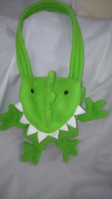 Childs Bag  Dinosaur Bag  Childs Bag  Fleece Bag  Childs Gift  Travel Buddy  Dinosaur  Fun Bags  Handmade gifts