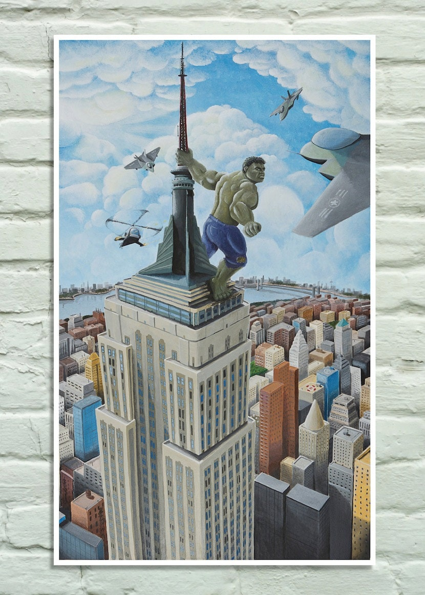 King Kong Empire State Building Poster Images & Pictures - Becuo King Kong Empire State Building With Girl