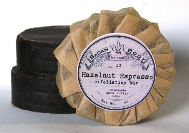 Handmade Coffee Soap: Exfoliating Hazelnut Coffee Shea Butter Bar Soap - Espresso Artisan Soaps
