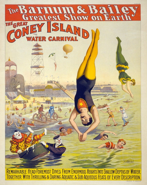 Vintage Carnival Posters Circus Acrobats Poster