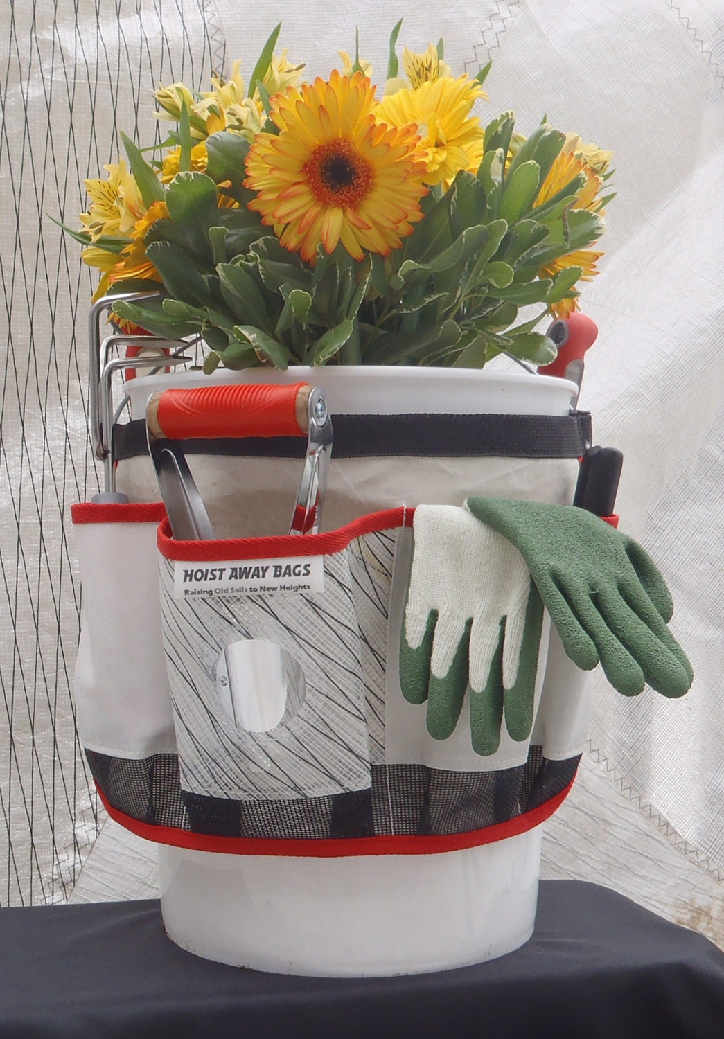 Eco Mothers Day Gift Garden Gifts for Gardening Nautical Gift Garden Tool Caddy Gardening Apron Garden Apron Bucket Organizer Tool Box