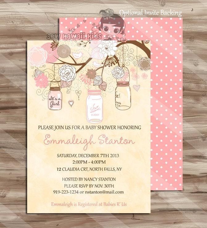 baby shower invitation shabby chic elegant simple girls baby shower
