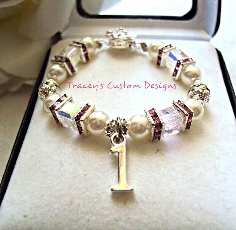 Baby's 1st Birthday Keepsake Bracelet By TraceysCustomDesigns