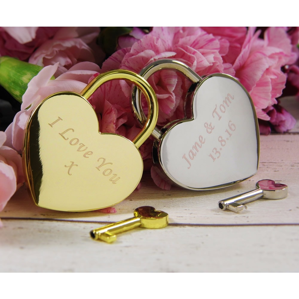 Personalised Engraved Love Heart Padlock  Love Locks Couples Gifts Wedding Locks Anniversary Gifts Christmas Stocking Fillers