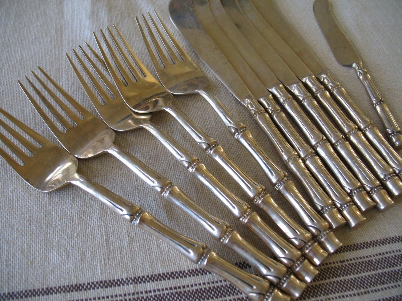 Vintage gold flatware thailand by golddogvintage on etsy - Thailand silverware ...