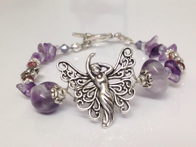 Amethyst bracelet gemstone reiki. FAIRY ANGEL