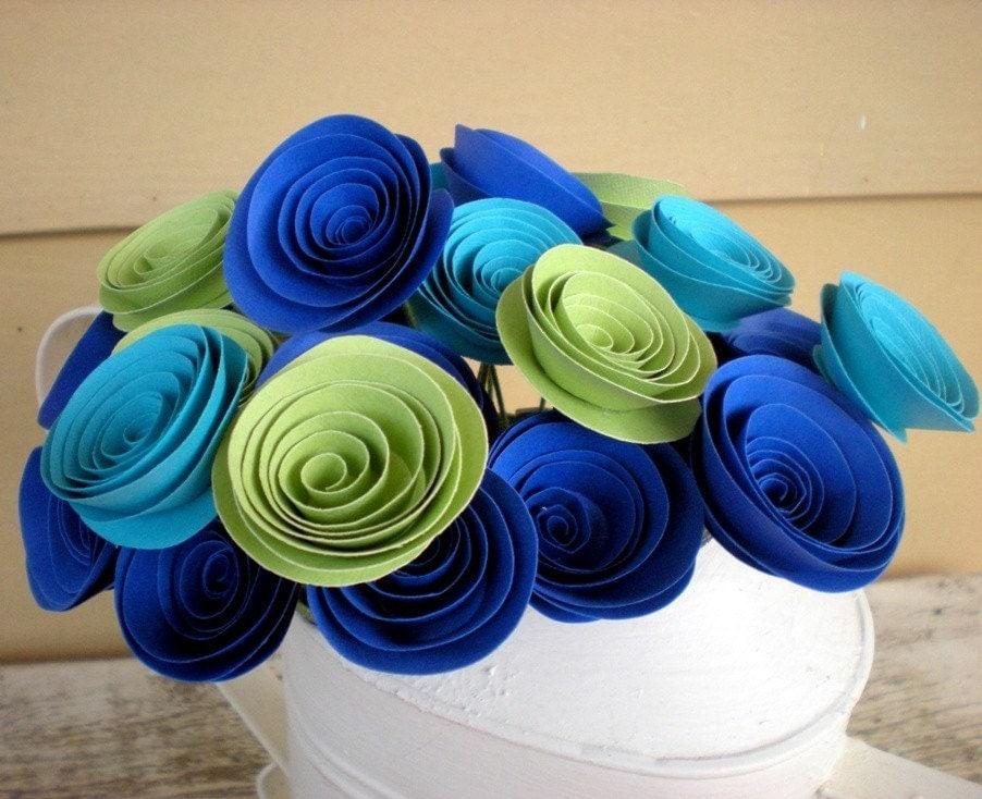 Синяя и Зеленая книга Цветы в