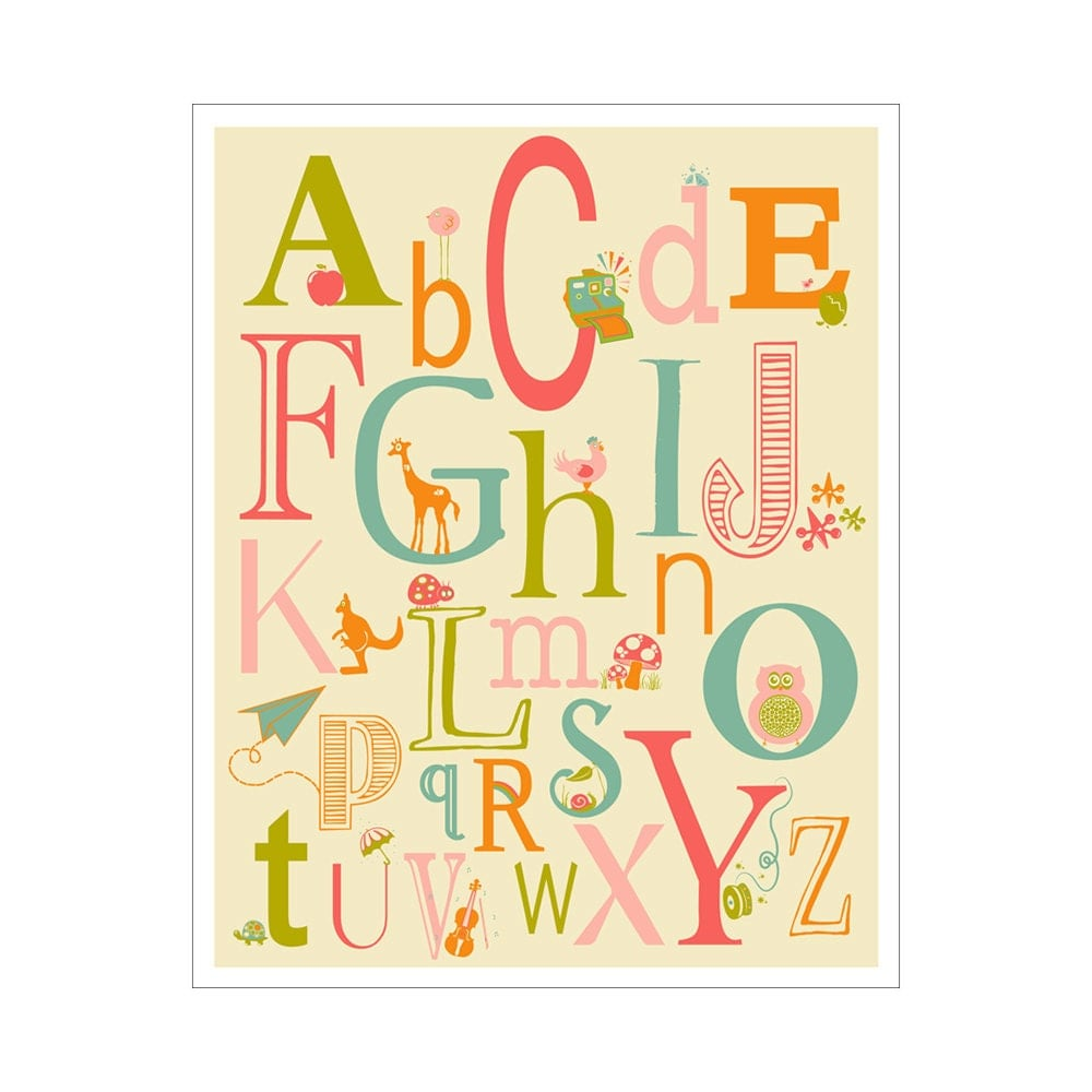 Beautiful Alphabet Wall Art Nursery Photos - The Wall Art ...