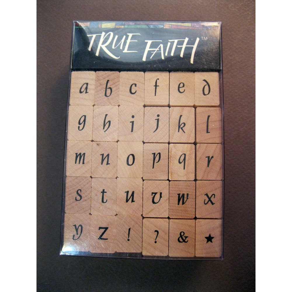 Rubber stamps alphabet set new in package fancy by