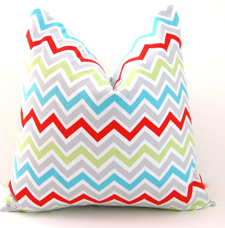 Items similar to Chevron Pillows Decorative Throw Pillow Covers Missoni Style Chevron Accent ...