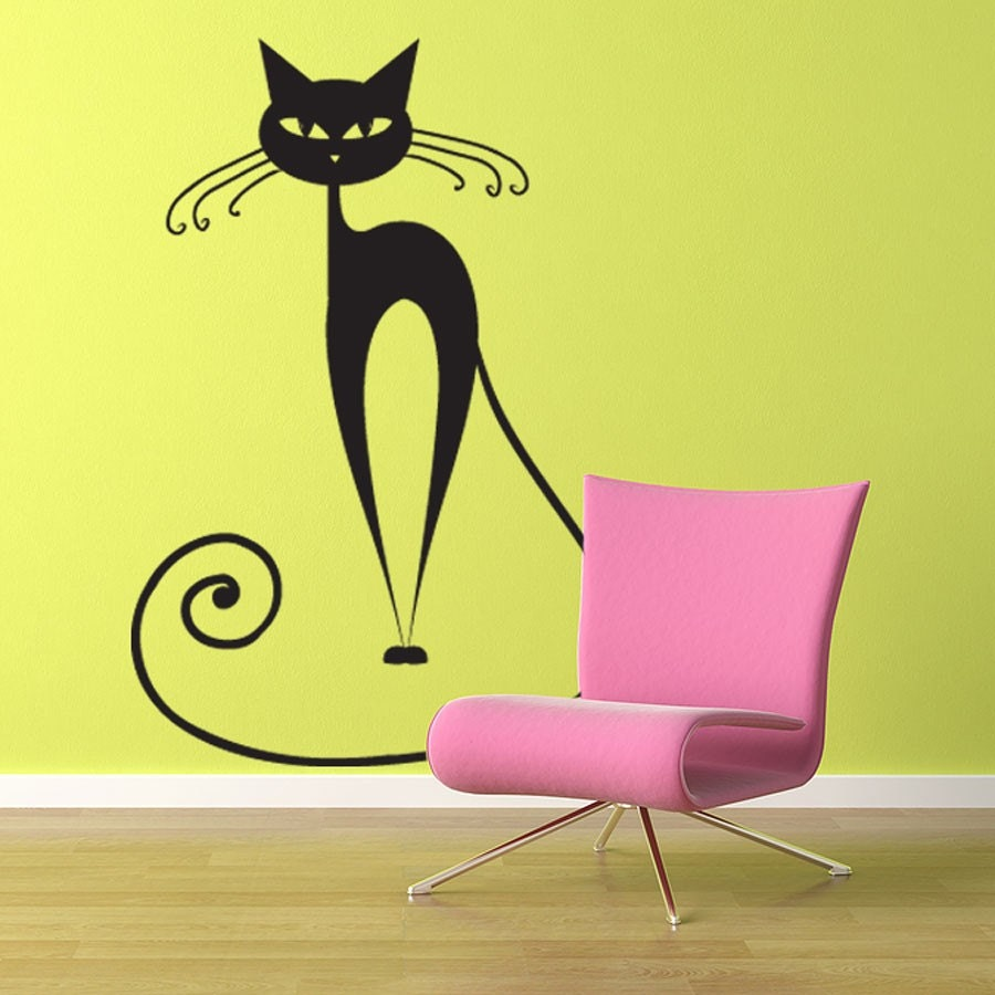 Vinyl Wall Decal Sticker Art - Pretty Pussy Cat