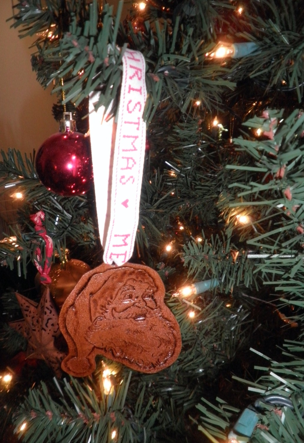 Leather tree ornaments