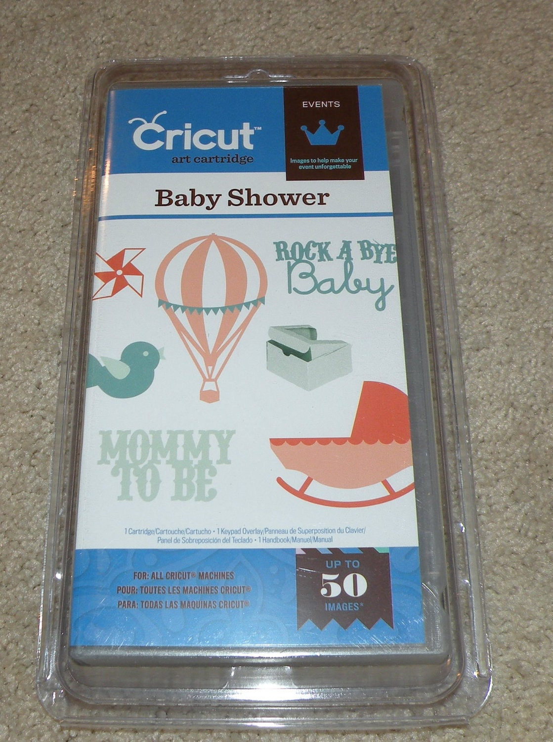 cricut cartridge baby shower by funscrappers on etsy
