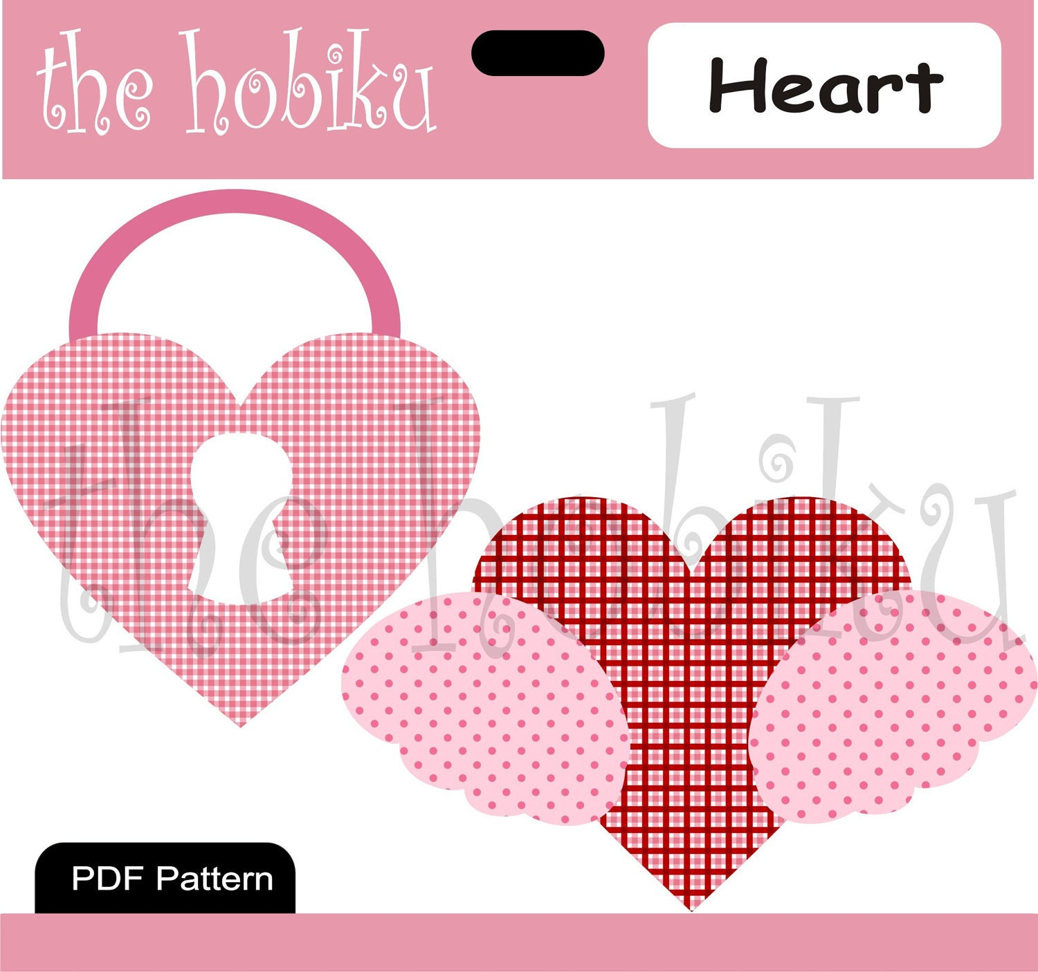 items similar to pdf applique template heart on etsy
