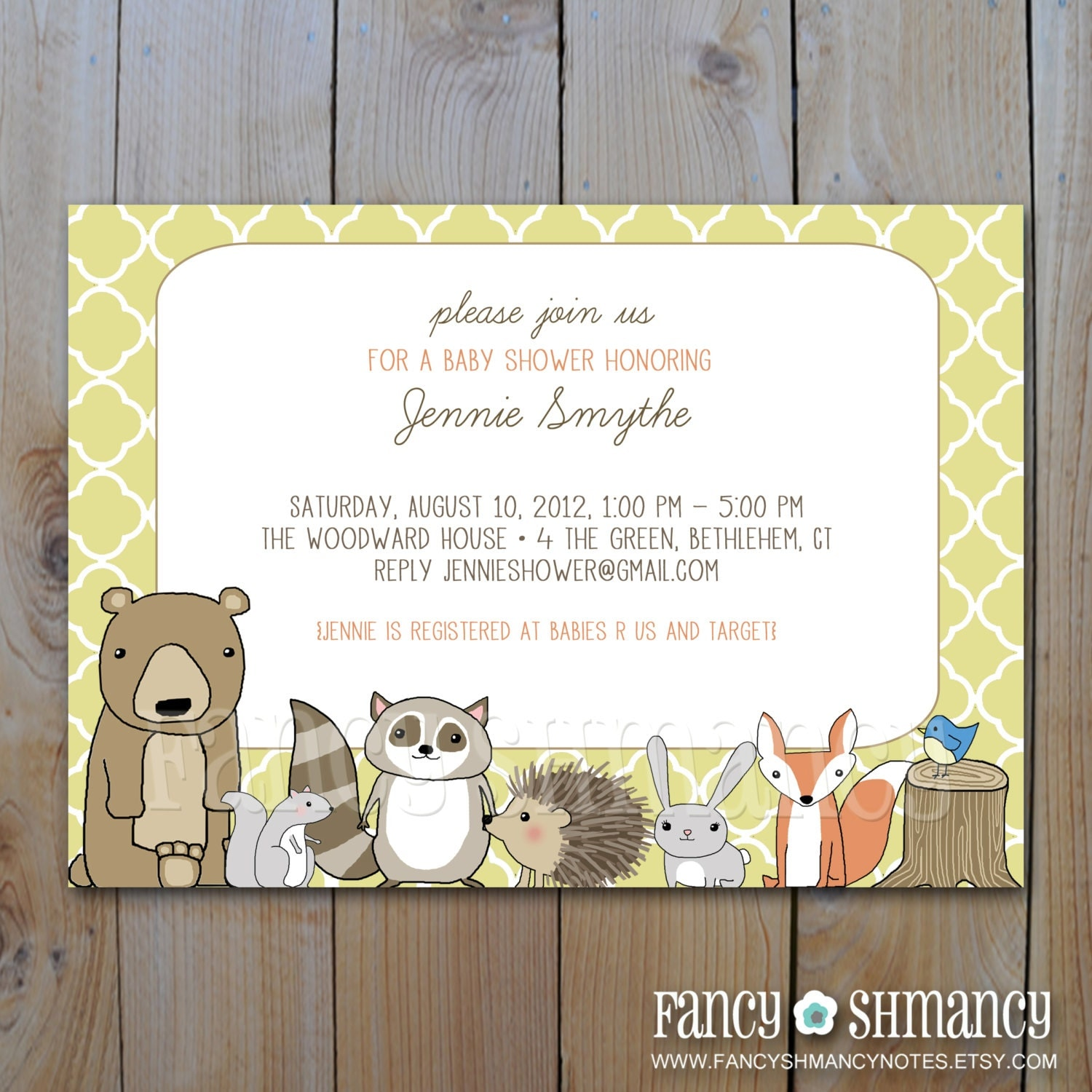 woodland critters baby shower invitation printable forest animals