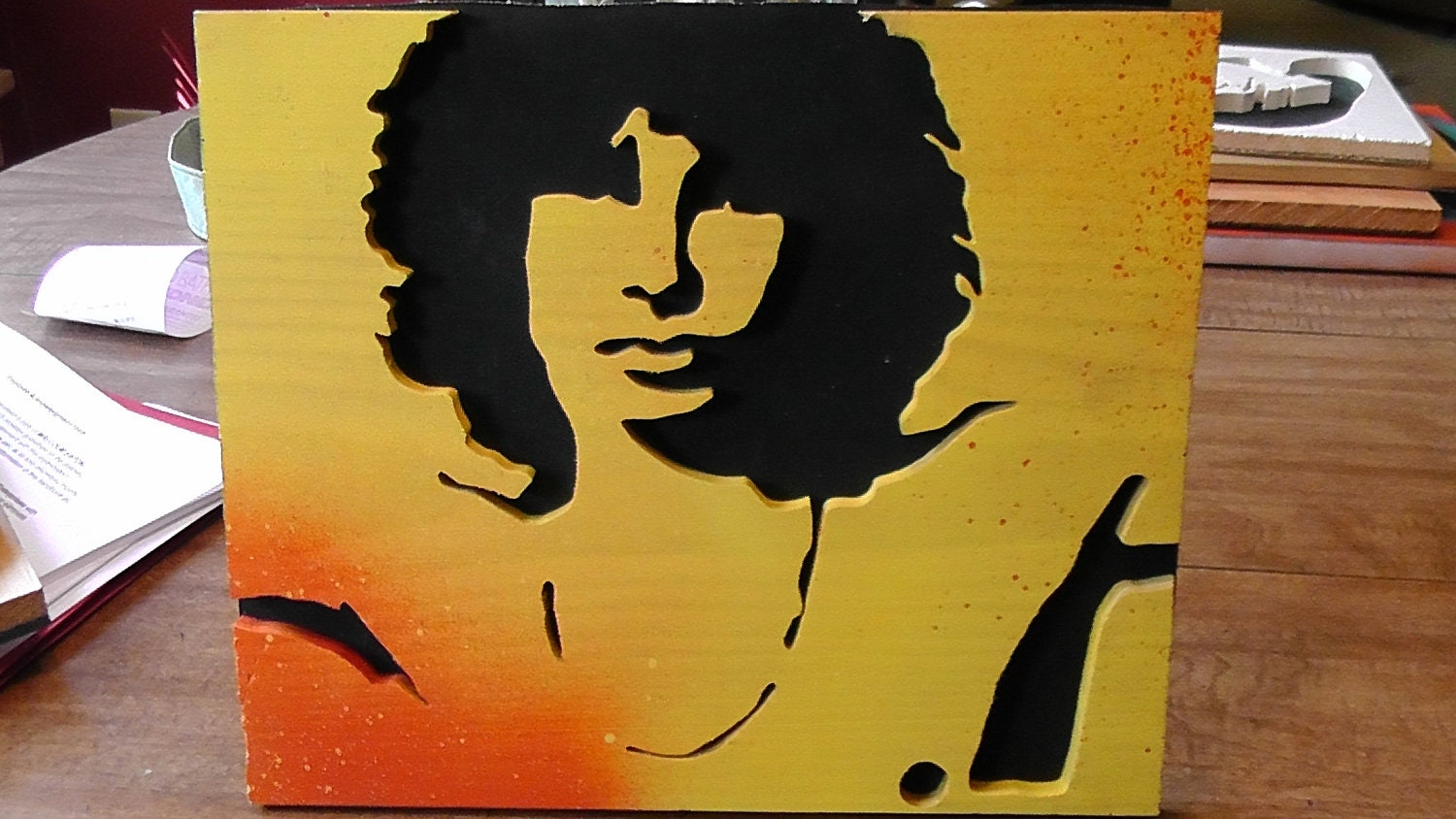 Jim Morrison The Doors Stencil Jim morrison the doors wood cutout by    The Doors Stencil