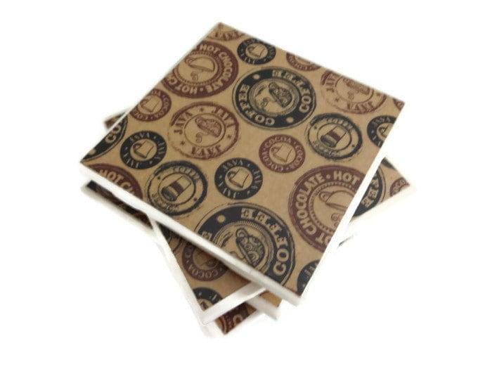 Coffe Coasters Ceramic Coasters - lilaccottagecards