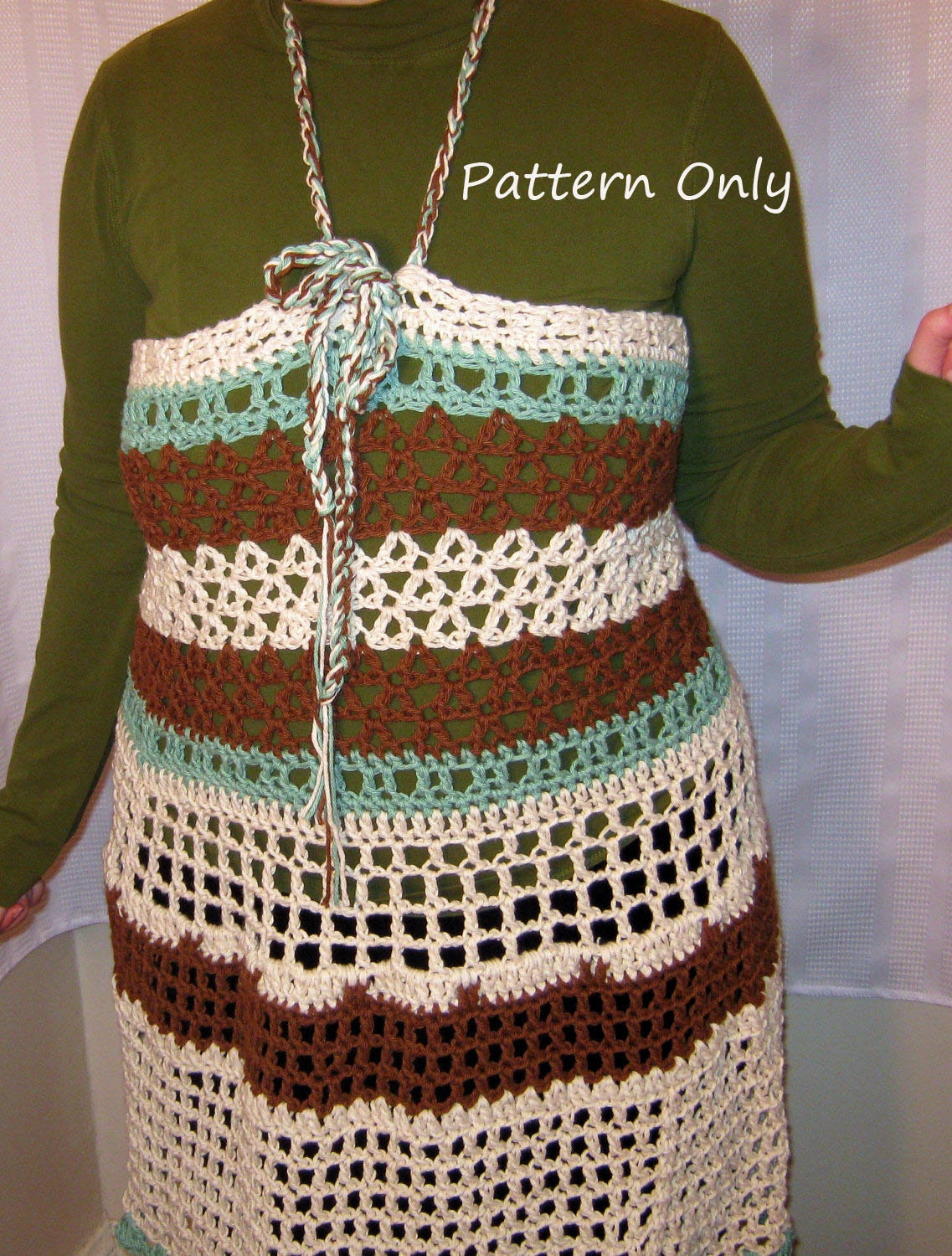 Crochet Xxl Patterns : ... cover up dress, crochet apron dress Crochet PDF Pattern. Small to XXL