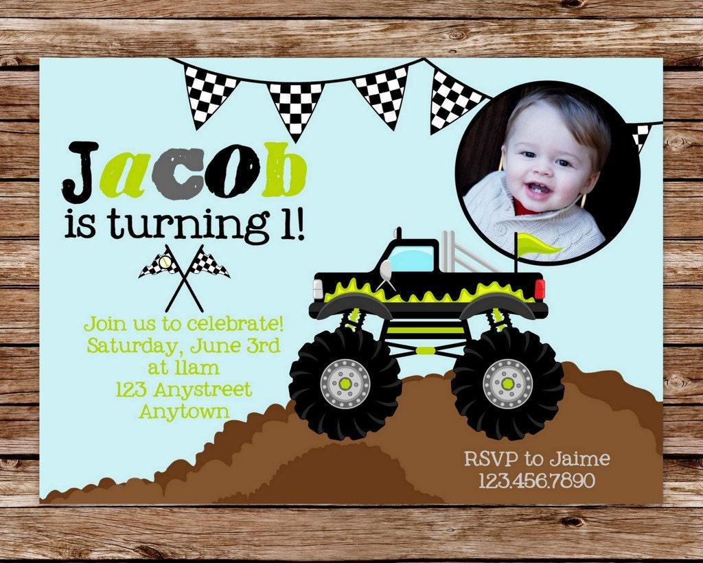 DIY Printable Monster Truck Birthday Party by thepaperblossomshop