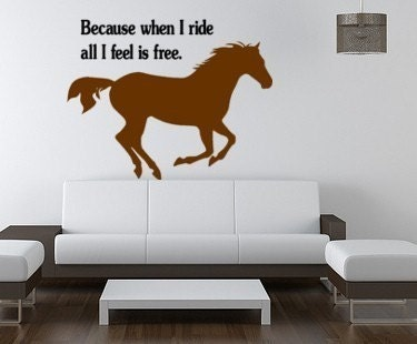 Horse decal-Horse sticker-Quote decal-Quote sticker-Horse wall decal ...