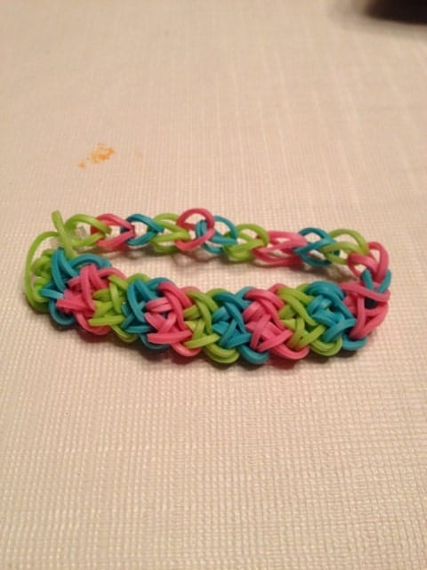 items similar to rainbow loom quotdouble xquot bracelet on etsy