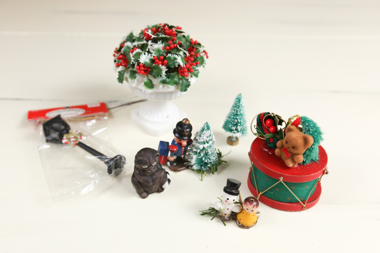 Vintage Miniature Dollhouse Christmas by lazydaysdesign on ...